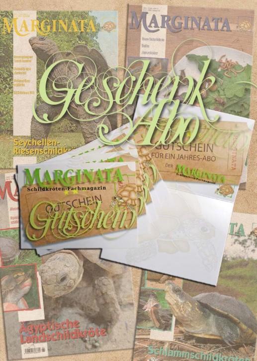 MARGINATA-Geschenkabonnement international ab aktueller Ausgabe inkl. Versand